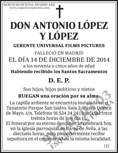 Antonio López y López